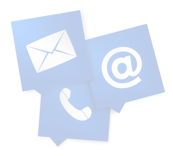 Contact Us Blue square